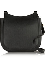 Hunting 11 textured-leather shoulder bag