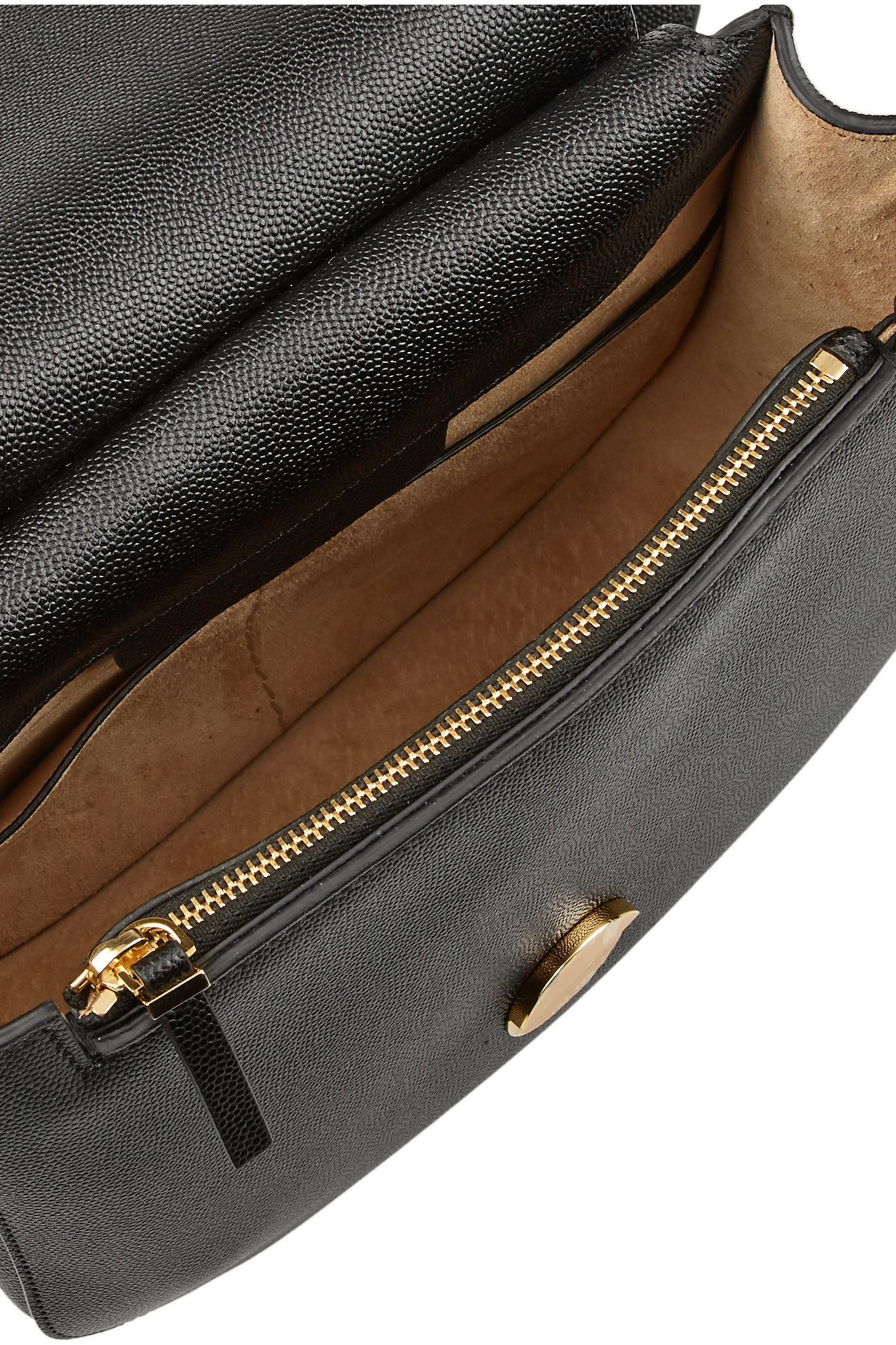The Row Hunting 9 textured-leather shoulder bag