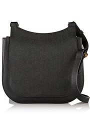 Hunting 9 textured-leather shoulder bag