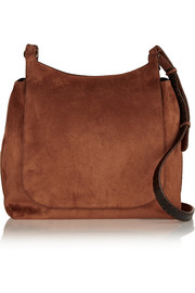 Sideby suede shoulder bag