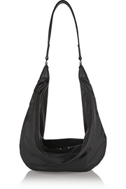 The Row The Sling leather-trimmed shell shoulder bag