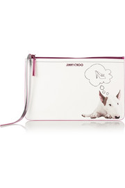 Jimmy Choo Nina L Daydream printed coated canvas and metallic leather pouch
