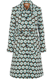 Miu Miu Printed wool-crepe coat