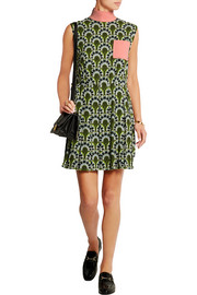 Printed crepe mini dress