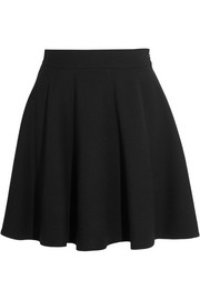 A-line wool-crepe mini skirt