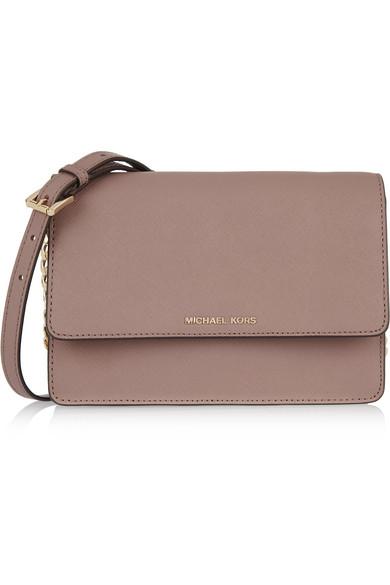 f9ff3239d369 MICHAEL Michael Kors | Daniela small textured-leather shoulder bag ...