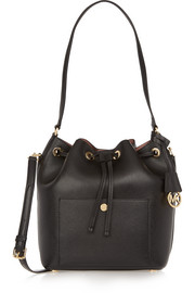 Greenwich large textured-leather bucket bag