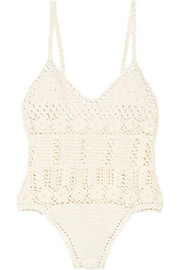 Crocheted cotton swimsuit