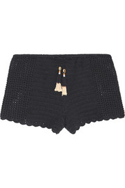 Oh Girl crocheted cotton shorts