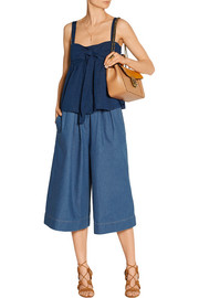 Air Force denim culottes