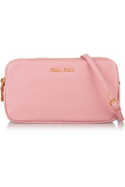 Miu Miu Small textured-leather camera bag