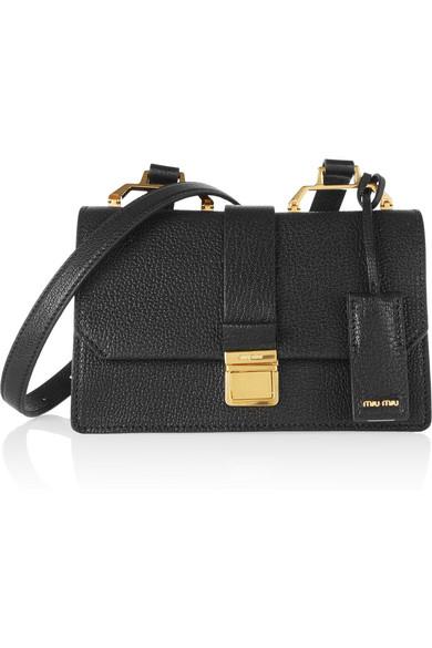 c7c3196aeba5 Miu Miu. Madras small textured-leather shoulder bag