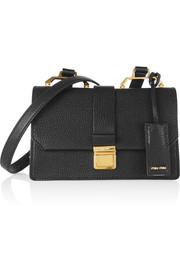 Madras small textured-leather shoulder bag