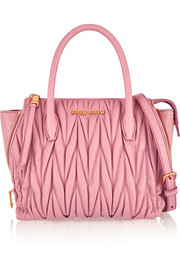 Miu Miu Trapeze mini matelassé leather shoulder bag