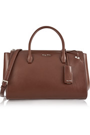 Trapeze medium leather shoulder bag
