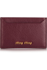 Miu Miu Textured-leather cardholder