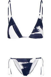 Les Essentiels Paint Mouna and Paint Malou triangle bikini