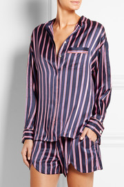 Vita Prudence striped silk-satin pajama set