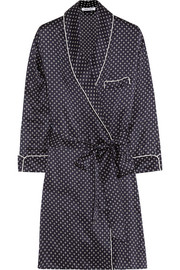 Ada Honor printed silk-satin robe