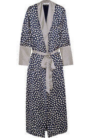Capability Faith printed silk-satin robe