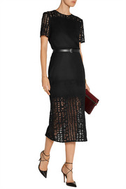 Jason Wu Felted wool-blend and lace top