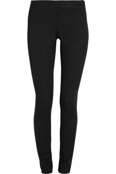 Stratton Stretch-Cotton Jersey Leggings, Black