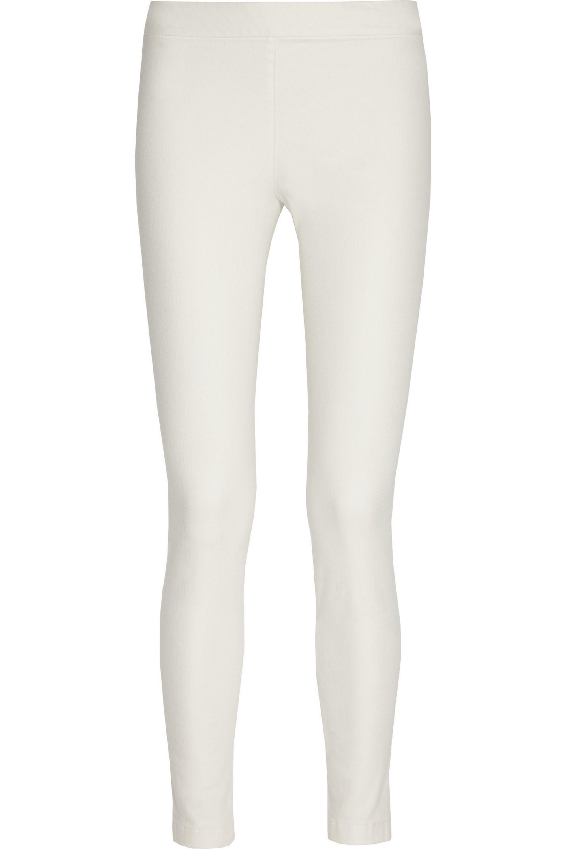 White Stratton Cotton Blend Leggings The Row Net A Porter
