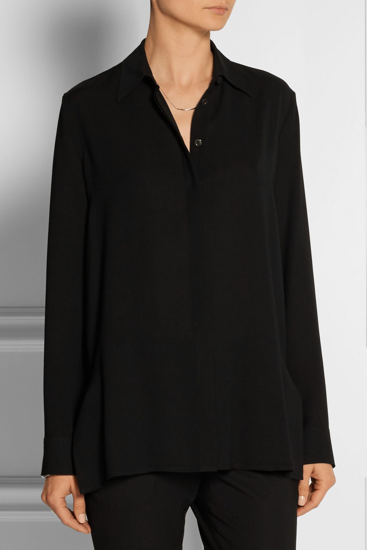 The Row Carlton crepe shirt