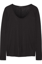 Baxerton silk-trimmed jersey top