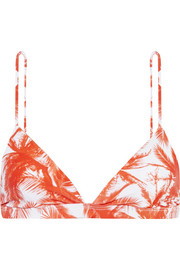 Mikoh Belize printed triangle bikini top