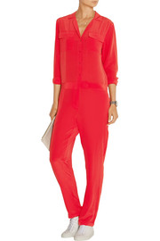 Blaise washed-silk jumpsuit