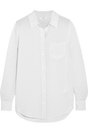 Reese polka-dot washed-silk shirt
