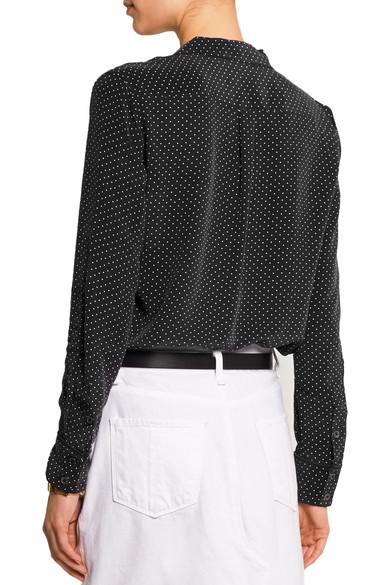 8bf8fd7aa4694 Keira polka dot-print washed-silk shirt.  207.48. Play