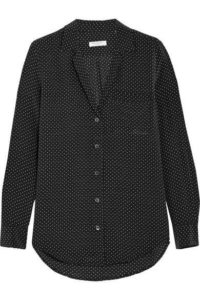 347b07171c61b Equipment. Keira polka dot-print washed-silk shirt
