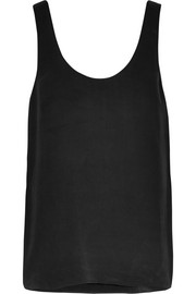 Kaylen washed-silk tank