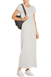 Stretch cotton-blend jersey maxi dress