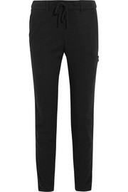 Gabardine tapered pants