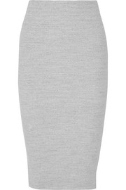 Ribbed stretch-cotton skirt