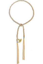 Carolina Bucci Lucky Protection 18-karat gold diamond bracelet