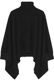Wool turtleneck poncho