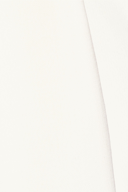 Adam Lippes Stretch wool-blend crepe midi skirt