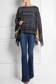 Missoni Crochet-knit wool-blend poncho