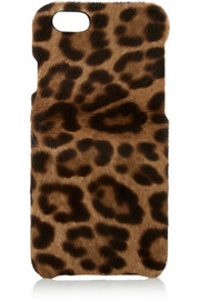 Leopard-print calf hair iPhone 6 case