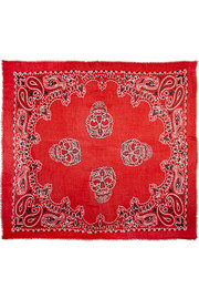 Chan Luu Printed modal, cashmere and silk-blend scarf