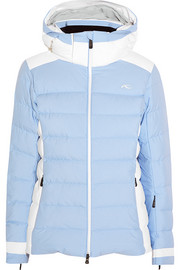 Snowscape quilted shell down ski jacket