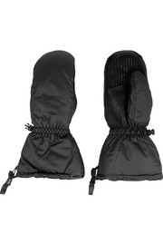 Leather-paneled Pertex® down ski mittens