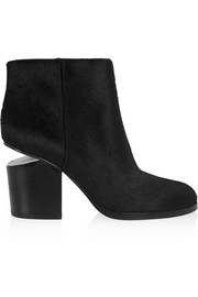 Gabi cutout calf hair ankle boots
