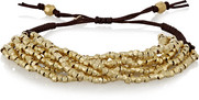 Gold-plated beaded bracelet