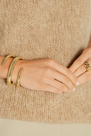 Large Twisted Cylinder gold-plated cuff