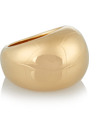 Cylinder gold-plated ring